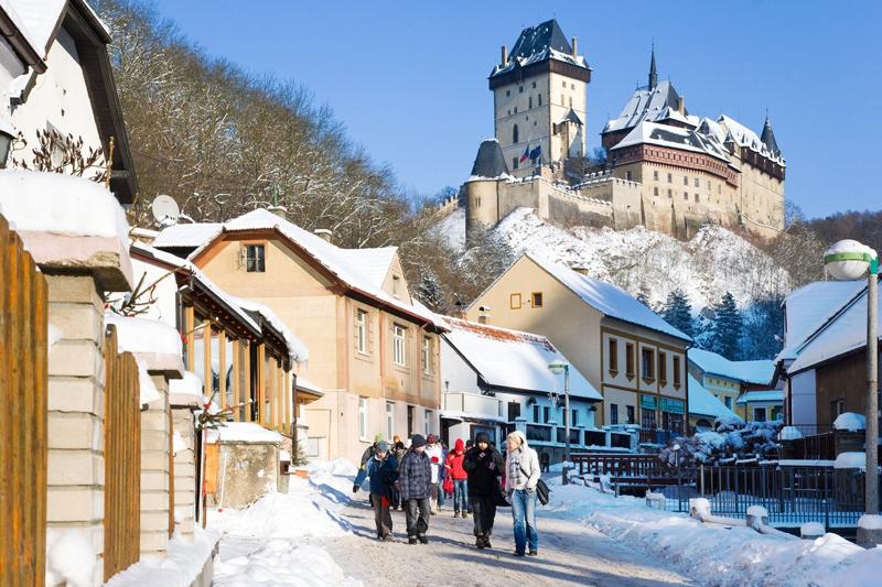 Замки Чехии открытые зимой